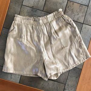 Ellison Gold Shorts